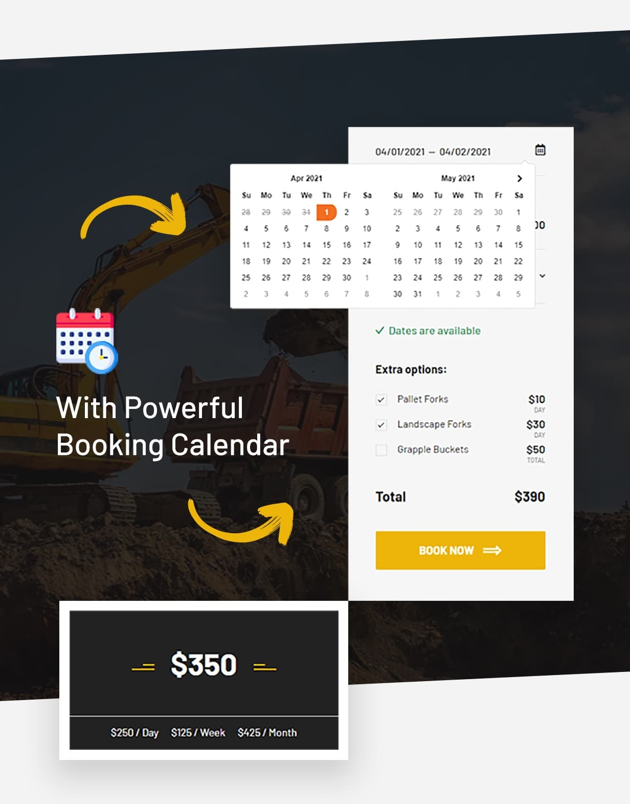 Antek - Powerful Booking Calendar