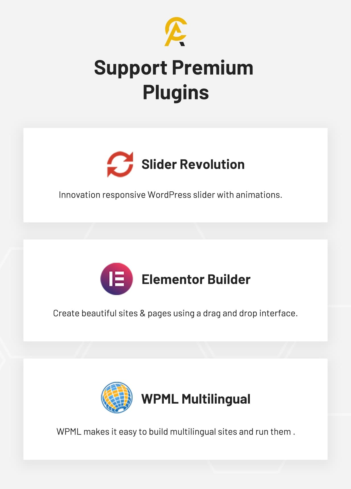 Antek - Support Premium Plugins