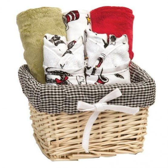 7pc Dr. Seuss Bib & Burp Cloth Gift Set