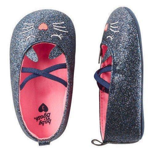 Oshkosh sparkle cat crib shoes