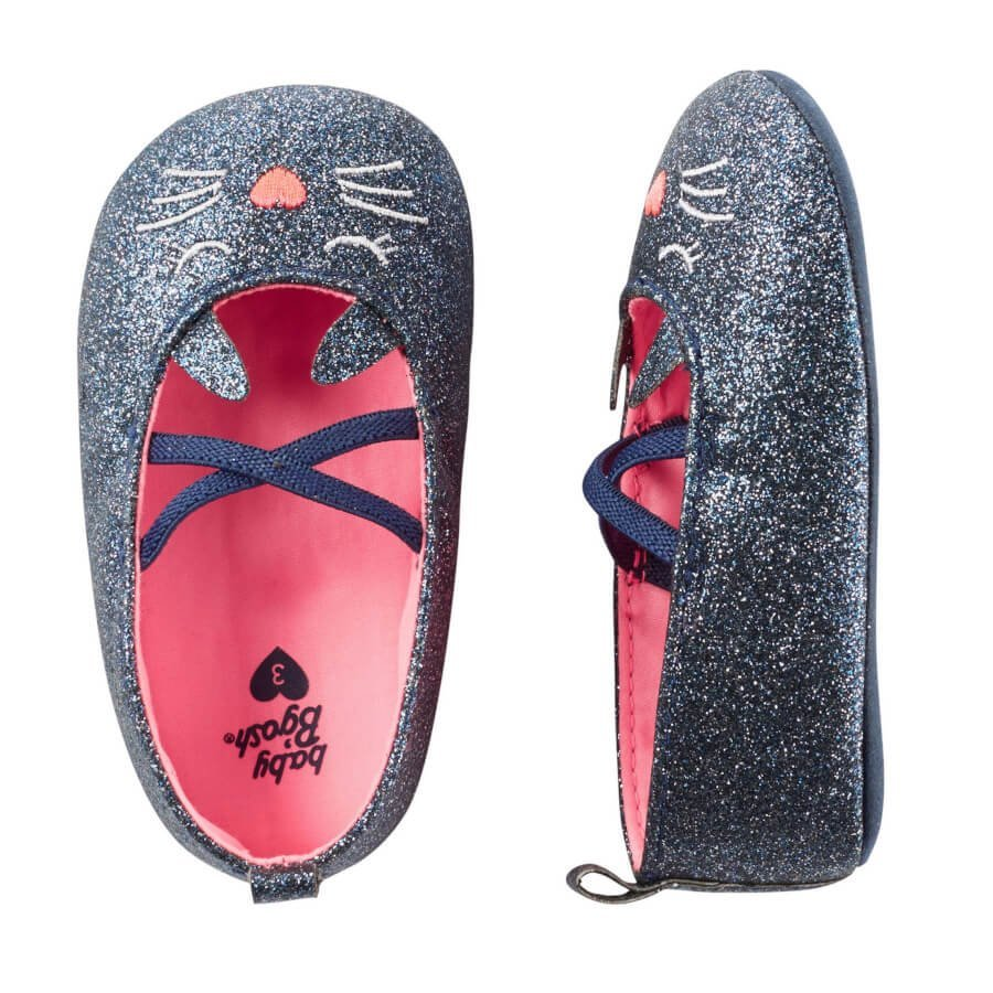 Sparkle Cat Crib Shoes