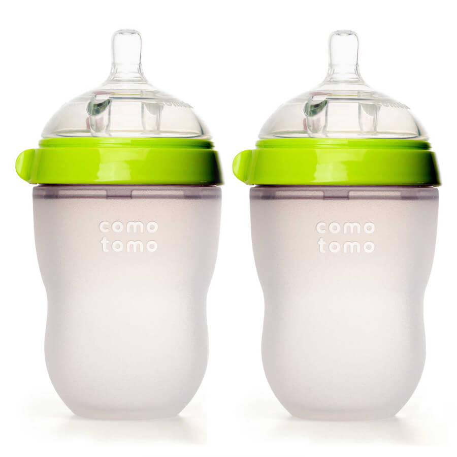 8-Ounce Baby Bottles in Green