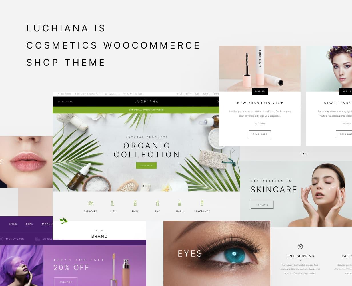 Luchiana - Cosmetics & Beauty Shop WooCoomerce Theme