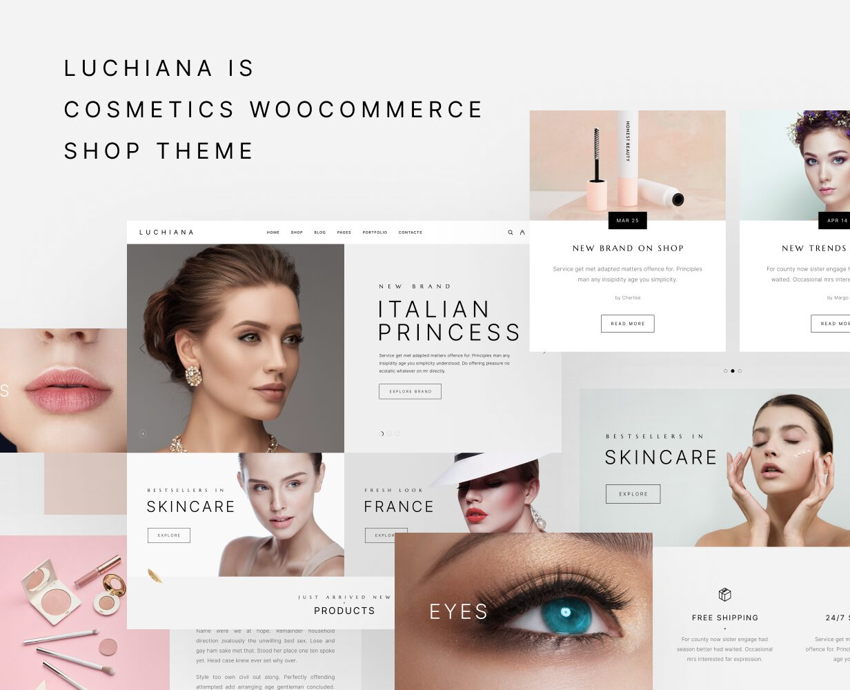 Luchiana - Cosmetics & Beauty Shop WooCoomerce Theme