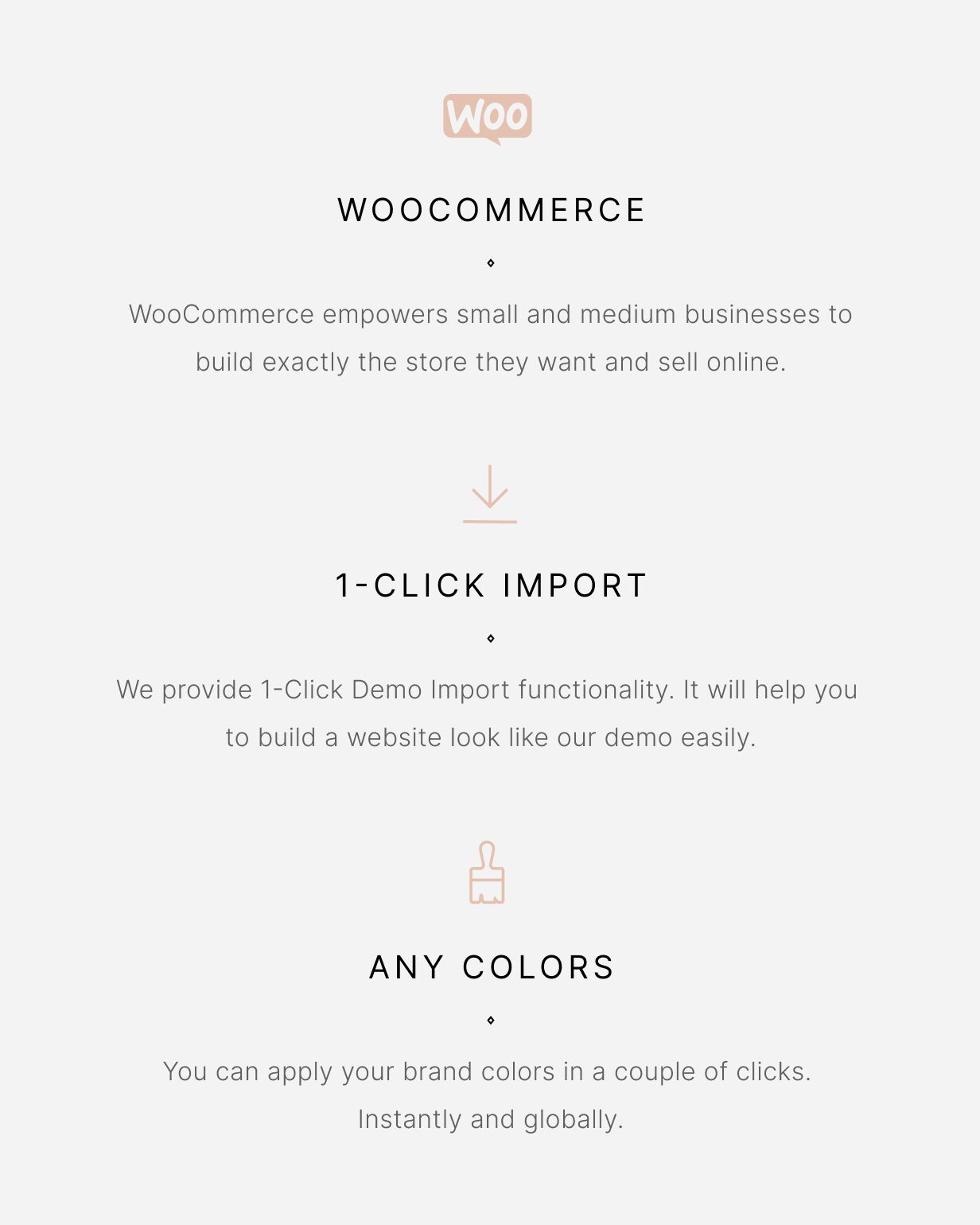 Luchiana - Woocommerce - 1-Click Import - Any Colors