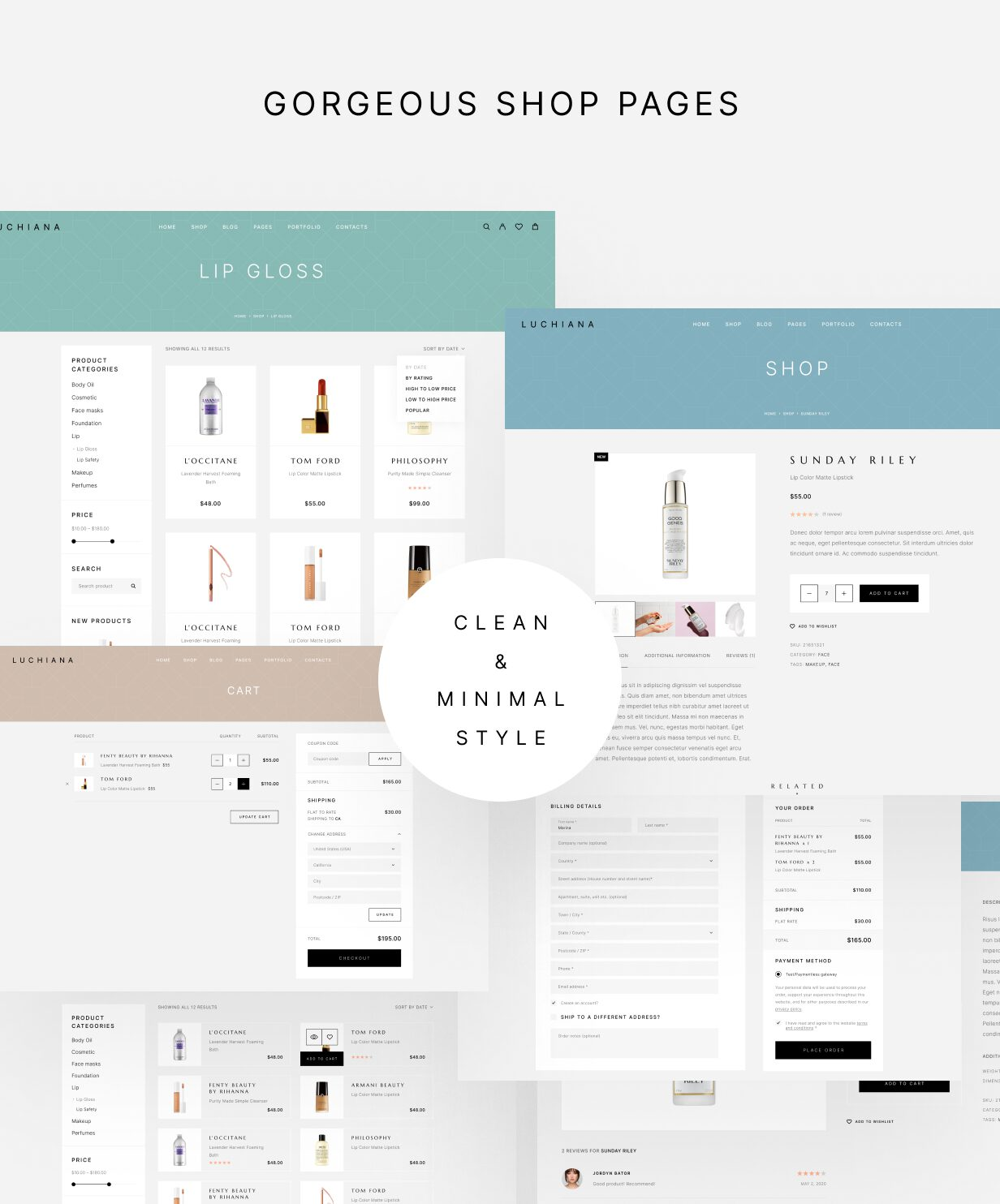 Luchiana - Gorgeous Shop Pages - Clean And Minimal Style