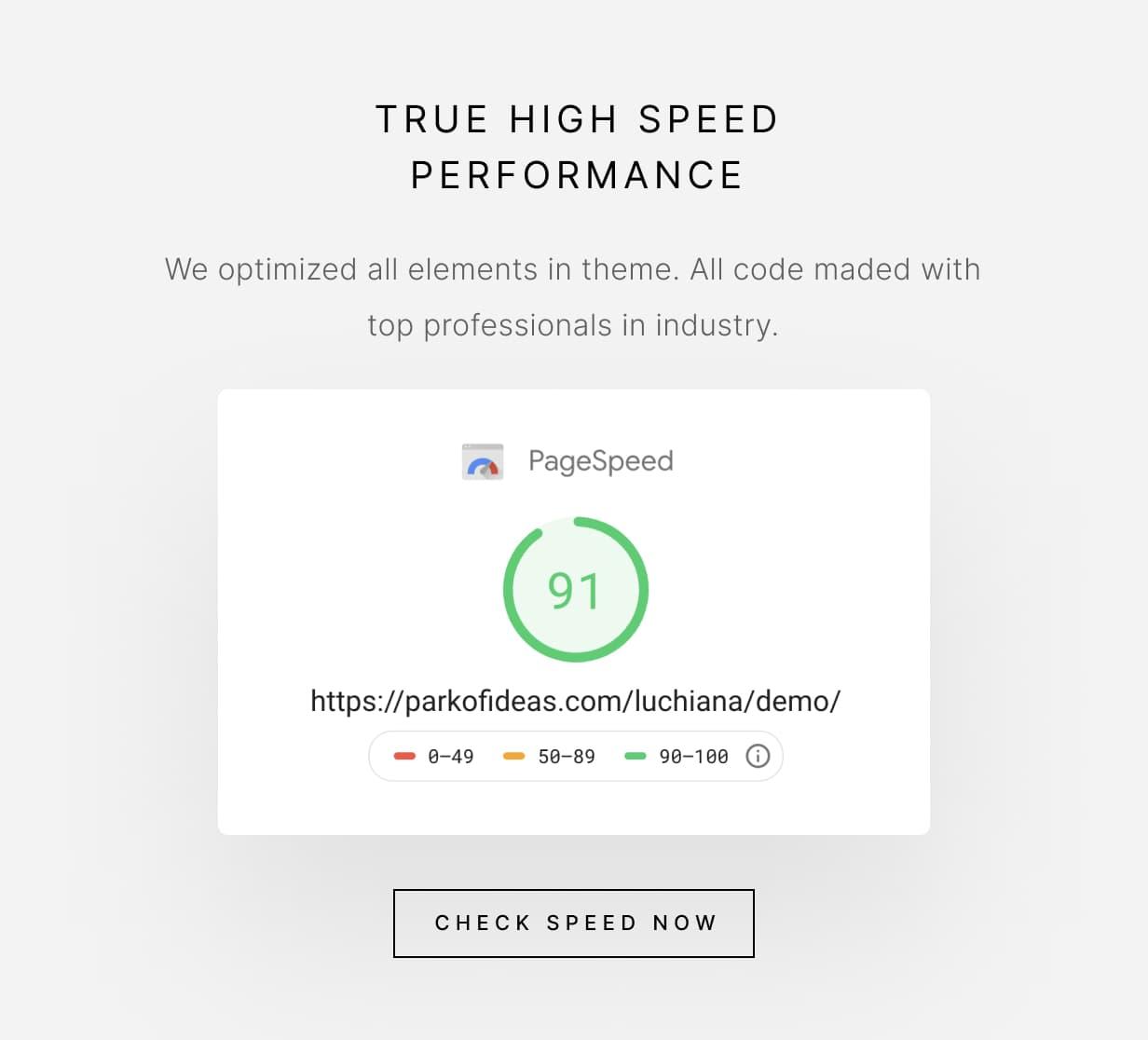 Luchiana - True High Speed Performance